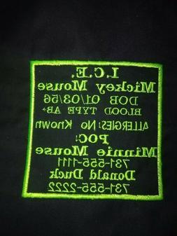 Motorcycle vest patches. I.C.E.  patch.