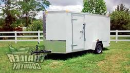 NEW 2020 6 x 12 V-Nosed Enclosed Cargo Motorcycle Trailer w/