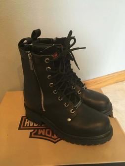 NEW HARLEY Davidson Motorcycle Womens Riding Boots Black Lea