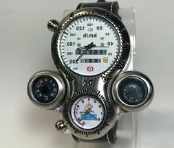 New Motorcycle Car Race Watch Quartz Speedometer Sports Digi