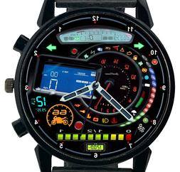 New Motorcycle Watch Quartz Speedometer Sports Dial yamaha K