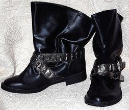 New without box, BABY PHAT Decade Motorcycle Boots Booties V