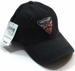 NWT Lucky Brand Triumph Motorcycle UK Flag Patch Black Baseb