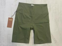 GIRLFRIEND COLLECTIVE Olive Green High-Rise Bike Short  ALL