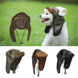 Pet Dog Ridding Winter Windproof Helmets Cap Puppy Bike Moto