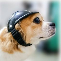 Pet Helmet Hat Fashion Outdoor Motorcycle Bike Dog Helmet Pe