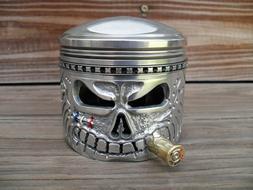 Piston Skull Face On a Harley Davidson Shovelhead - Panhead