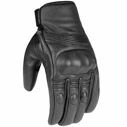 Premium Leather Men's Street Motorcycle Protective Cruiser B
