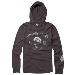 FOX RACING Misfits Hoodie T Shirt Gray L Motorcycle Motocros