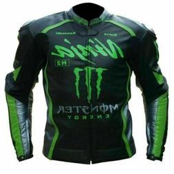 Racing Motor Bike Leather Jacket - Kawasaki Ninja