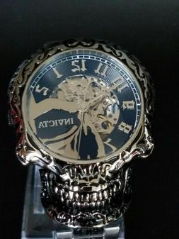Invicta Skull Automatic Watch Artist Biker Goth Motorcycle R