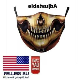 Skull Face Mask Washable Reusable Biker Motorcycle Halloween