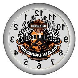 Smokin' Harley-Davidson Winston salem Motorcycle wall clock
