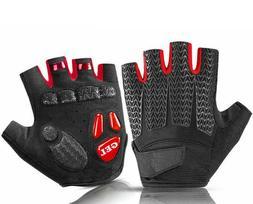 Sports Cycling Gloves Bike Bicycle Gel Pad Half Finger MTB G