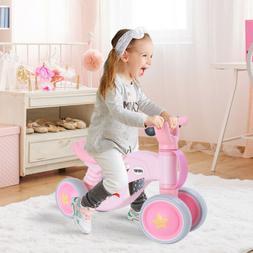 Toddler Baby Balance Bike, 4 Wheel No Pedal Durable Kids Inf
