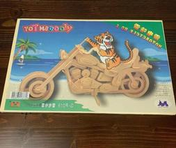 Train Wood Wooden 3D Diy Kit Motorcycle Game Family Art Home