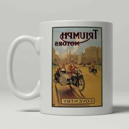 Triumph Motorcycle Mug Motorcycle Art Deco Mug