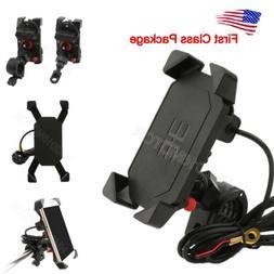 US Motorcycle Bike ATV Cell Phone GPS Handlebar Mirror Mount