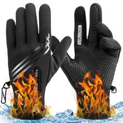 Waterproof Winter Warm Thermal Gloves Cycling Motorcycle Tou