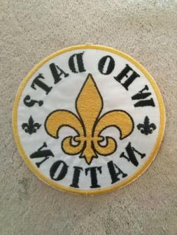 """Who Dat Nation Motorcycle Vest Patch. Approx 3 3/4"""" in dia"""