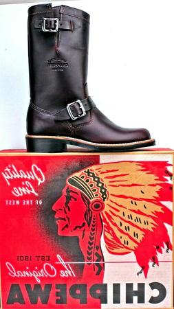 Chippewa Women's Motorcycle Boots size 7M Cordovan Leather