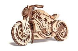 Wood Trick Motorcycle DMS 3D Mechanical Puzzle Model Assembl