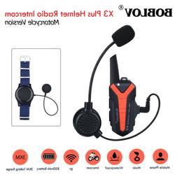 BOBLOV X3plus Helmet Wireless Walkie Talkie Intercom 2Way Ra